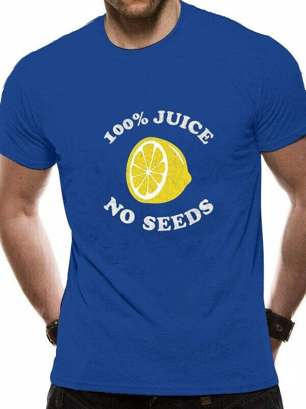 2020 для отдыха модные 100% хлопок; Футболка с О-образным вырезом de sementes de suco cento de manga moda юридические