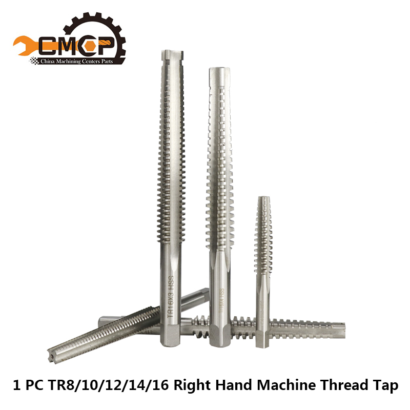 1pc TR 8/10/12/14/16 Machine Screw Tap Trapezoidal Metric Thread Tap Hand Tools Right Hand Tap High Quality Machine Tap