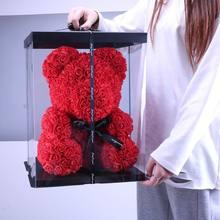 40cm rose teddy bear artificial flower rose bear wedding birthday gift for girlfriend wife Valentine's Day