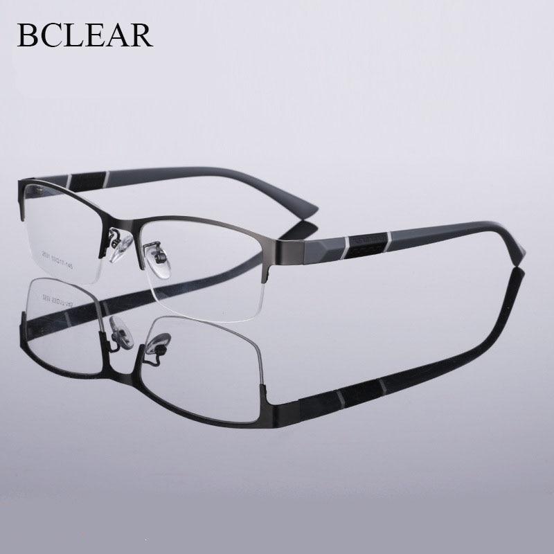 BCLEAR Half Rim Alloy Front Rim Flexible Plastic TR-90 Temple Legs Optical Eyeglasses Frame For Men And Women Eyewear Spectacles