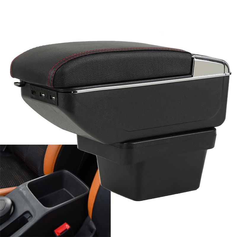 Free shipping for Chery Tiggo 3X armrest box +7USB+ double layer + light(China)