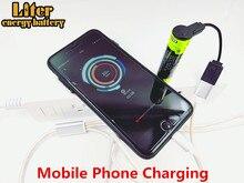 Carregamento da bateria banco de Potência USB 5000M Laptop bateria 18650 3.7V 3500mAh Bateria Recarregável de Li ion de Inteligência 4 LEVOU indicador