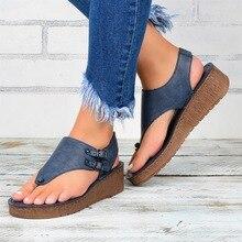 Sandalias de las mujeres Clip dedos Vintage plano Retro zapatos de mujer zapatos Casual Mujer Sandalias de Playa de Las señoras de la moda 2020 sandalias de verano