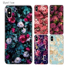 Uyellow Flower Trend Cover For Iphone 5 6S 7 8 10 Plus Silicone Soft TPU Phone Case Apple X XR XS MAX Fashion Coque Shell