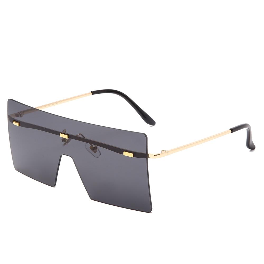 Closeout DealsFashion Oversized Sunglasses Women Retro Vintage Metal Sun glasses Luxury Brand Design Rimless Eyewear oculos de sol feminino