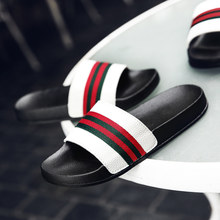 2020 New Trend Home Slippers Men Fashion Pu Leather Slippers for Men Black Mens Hotel Slippers Summer Men Casual Shoe Size 38-45