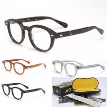 Johnny Depp Eyeglasses Frame Men Women With Box&Case Computer Optical Retro Lemtosh Style Glasses Spectacle Frame Clear Lens