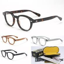 ジョニー · デップ眼鏡フレーム男性の女性ボックス & ケースコンピュータ光学レトロlemtoshスタイルメガネ眼鏡フレームクリアレンズ