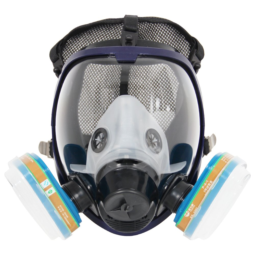 Complete Suit Trudsafe 6800 Painting Spraying Full Face Gas Chemical Mask Respirator, Dust Mask, 2 Kinds Of Connectors, Good Tig