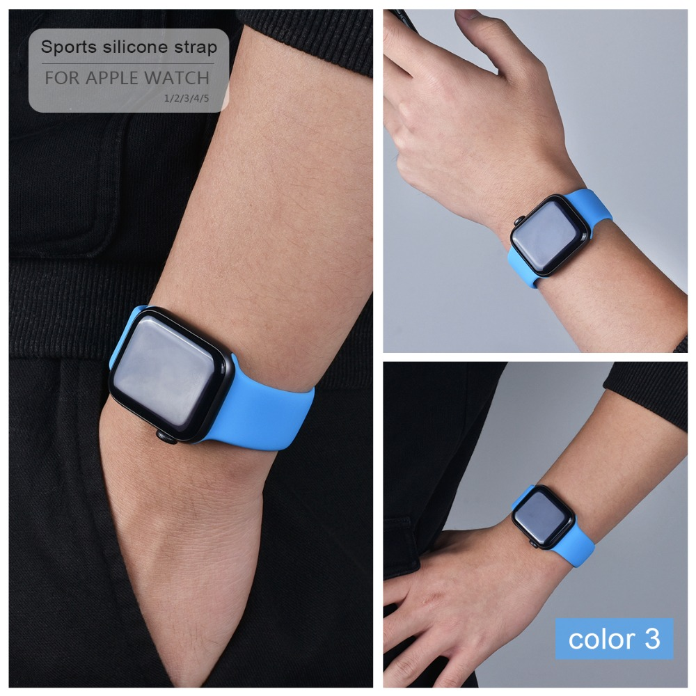 Soft Silicone Band for Apple Watch 114