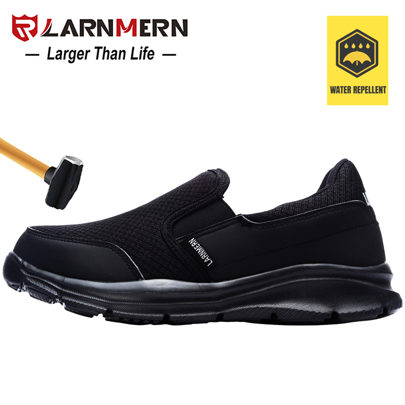 LARNMERN Women's Work Safety Shoes Steel Toe Lightweight Breathable Anti-smashing Waterproof Non-slip Construction Sneaker image