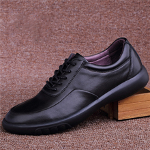 British Style Mens Casual Soft Leather Shoes Spring Autumn Business Lace-Up Designer Breathable Men Sneakers