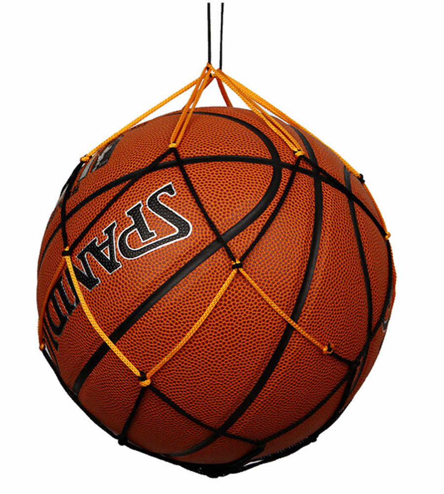 Material de basquete náilon net saco bola transportar malha voleibol basquete futebol náilon útil e prático saco de malha