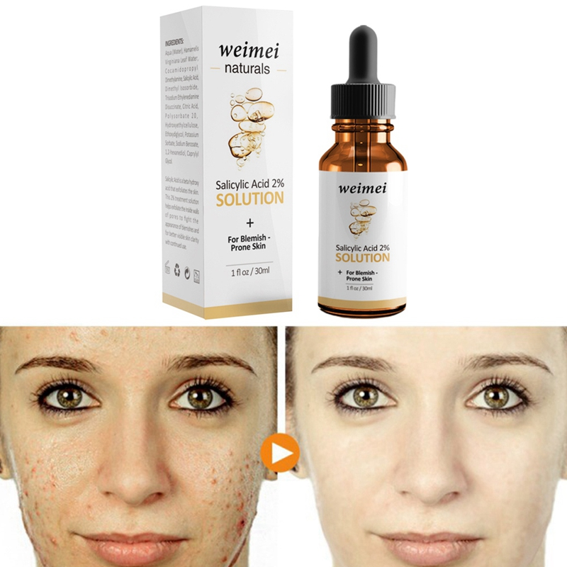 Weimei Naturals Salicylic Acid 2% Solution+for Blemish-Prone Skin Brighten Skin Tone Hydrating Shrink Pore Exfoliating Essence 3