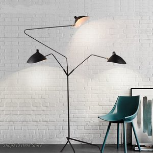 Image 2 - Nordic Dawn Spider Serge Mouille Vloerlamp Modellering Slaapkamer Industriële Staande Lamp Eenvoudige Woonkamer Led Floor Lichtpunt