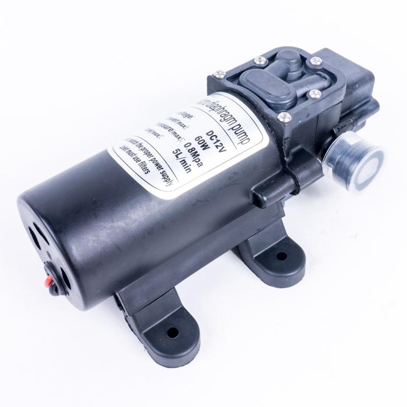 DC 12V  60W  0.8Mpa Mini Electric Water Pump  Home Garden Diaphragm Pump Household Small Pumping