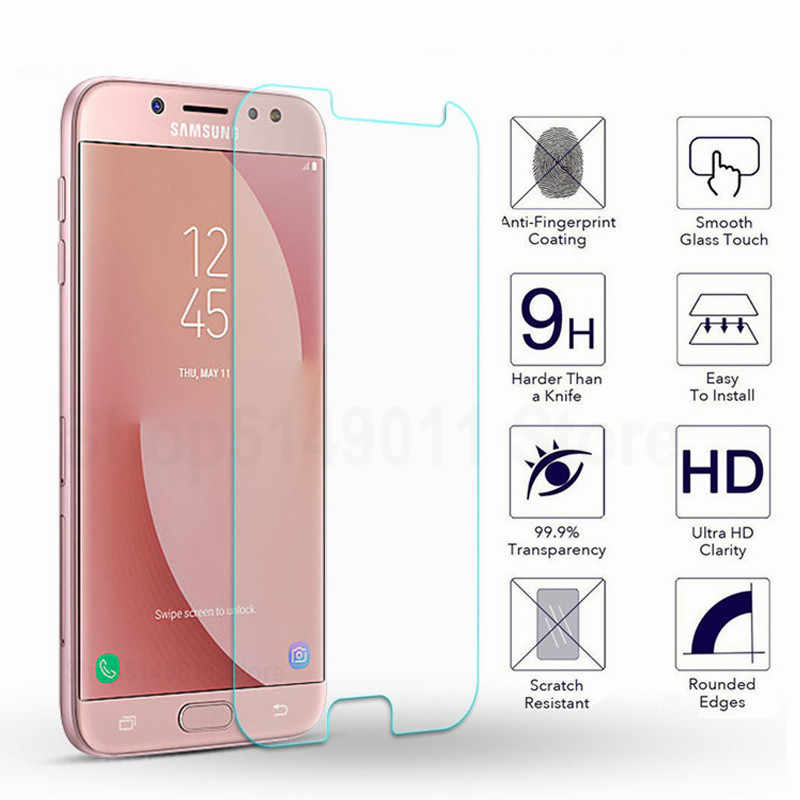 9H HD Tempered Glass on the for Samsung Galaxy A3 A5 A7 J5 J3 J7 2015 2016 2017 2018 Version Phone Screen Protective Glass Film