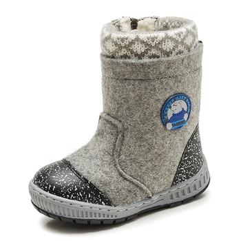 MMNUN Wool Felt Boots Winter Shoes Boys Warm Children Winter Shoes Little Boys Snow Boots Child Shoes Winter Size 23-32 ML9425