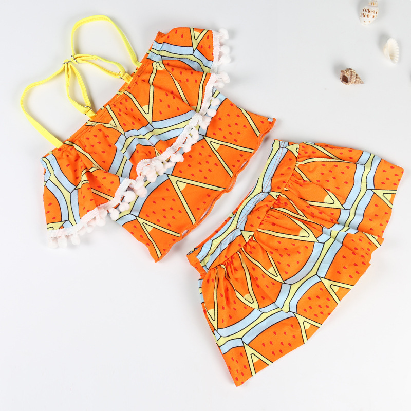New Products Children Hot Springs Tour Bathing Suit Two-piece Swimsuits Girls Age Of 3-5 Comfortable Briefs Fashion Swimwear