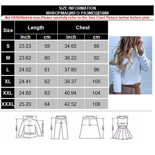 2020 Work Wear Women Blouses Casual Solid O Neck Long Sleeve Metal Buttons Shirt Tops Plus Size Autumn Blouse 6