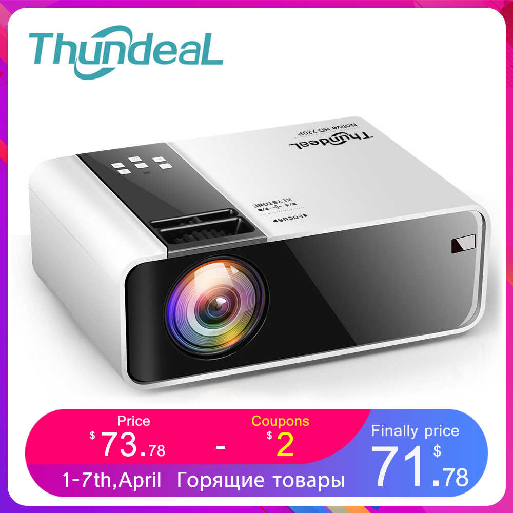 ThundeaL HD Mini projektör TD90 yerli 1280x720P LED Android WiFi projektör Video ev sineması 3D HDMI film oyun Proyector