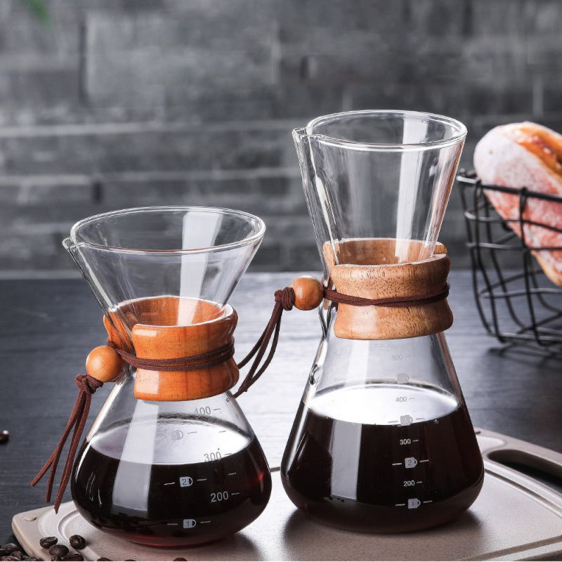 400ml 600ml Coffee Filter Stainless Steel Drip Coffee Holder Funnel Baskets Reusable Pour Over Coffee Maker And Coffe Pot