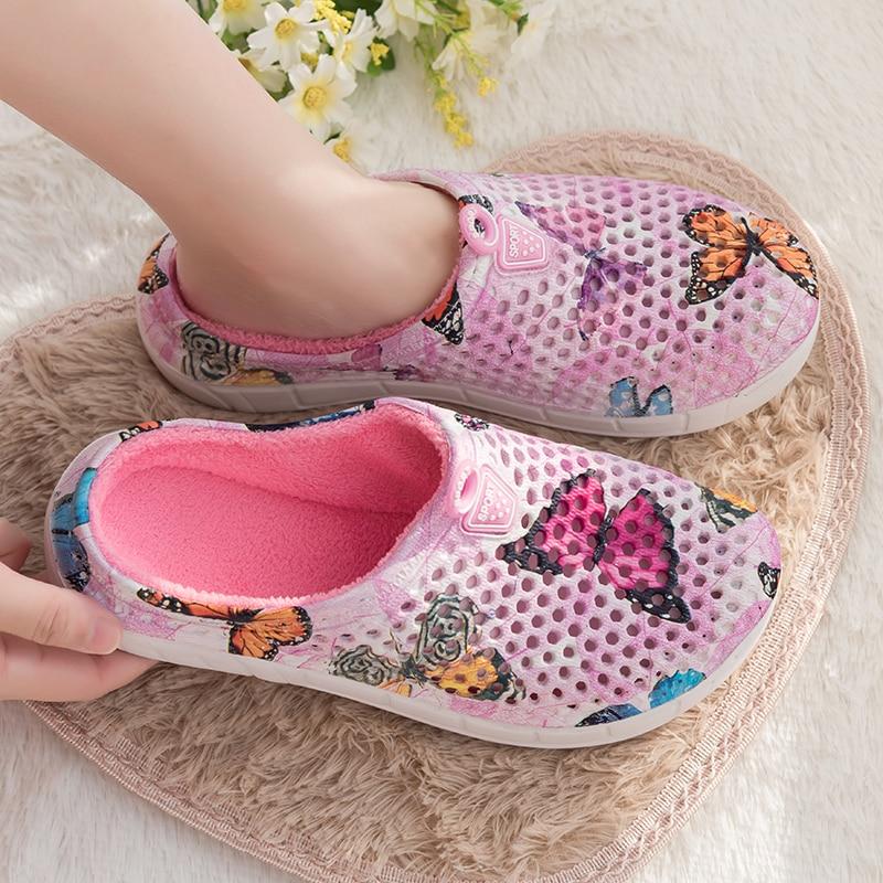 Original Slippers Women Croc Clog Shoes Winter Outdoor Classic Freesail Plush Shearling Lined Sneakers Winter Fur Garden Sandals 3