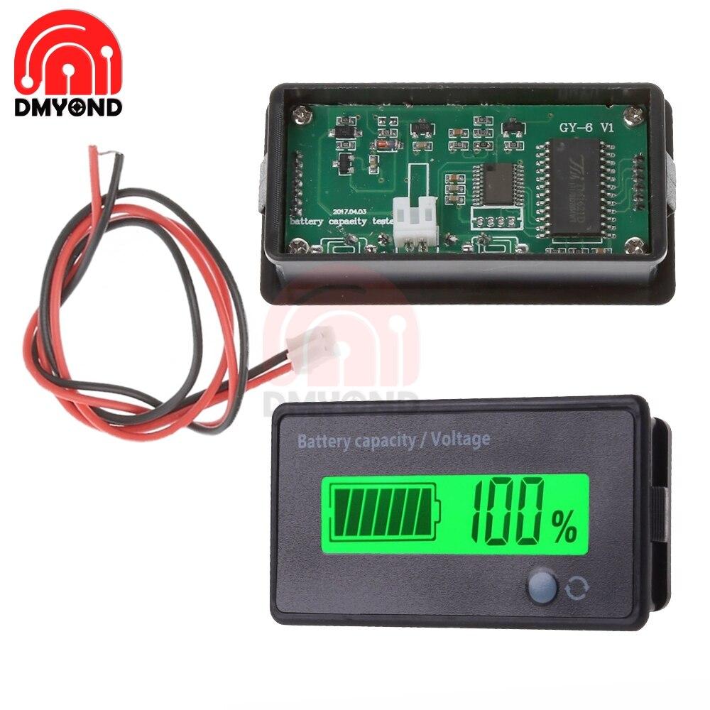 LCD Display Meter Lithium Lead-acid Battery Capacity Lithium Battery Power Level Lead Acid Battery Capacity Indicator Green