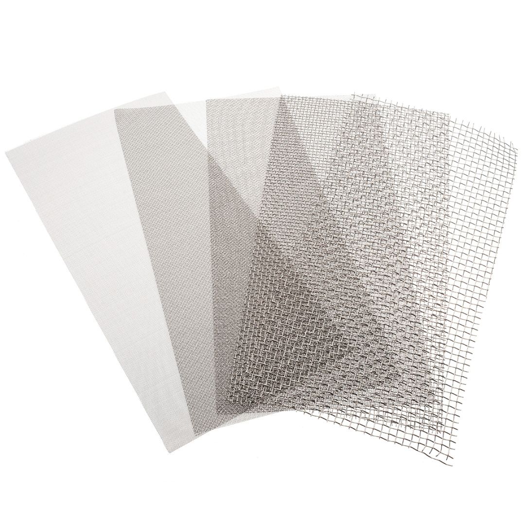 1pc 6x12'' Woven Wire Mesh Sheet Stainless Steel Woven Cloth Screen Filter Sheet 5/8/20/30/40 Mesh