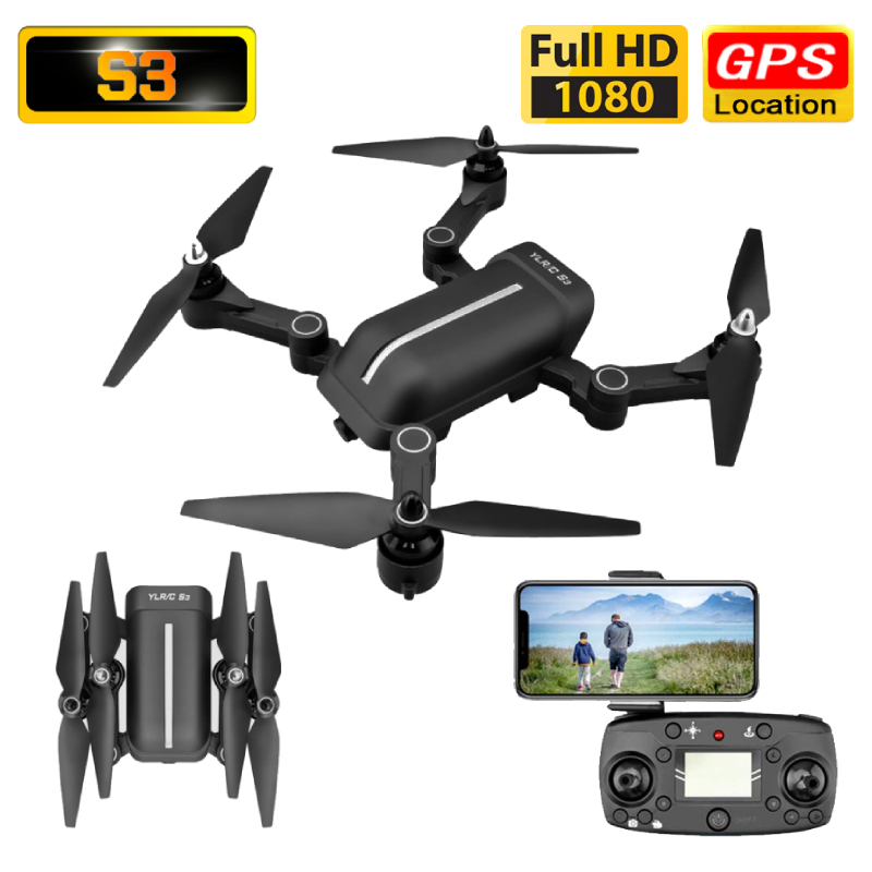 S3 Drone GPS 1080P HD Camera 5G WIFI FPV Surround Flight Foldable Selfie Drones Professional 400m Long Distance RC Quadcopter