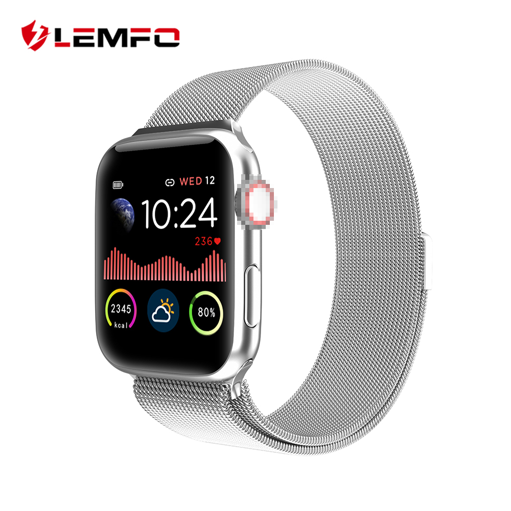LEMFO W68 Smart Watch Men Full Touch All Day Bright HD Display Heart Rate Monitor For Apple Android Phone Smartwatch Women IWO|Smart Watches|   - AliExpress