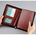 Высокоуровневая деловая дорожная папка для документов A5 с застежкой-молнией сумка менеджера для документов с записной книжкой