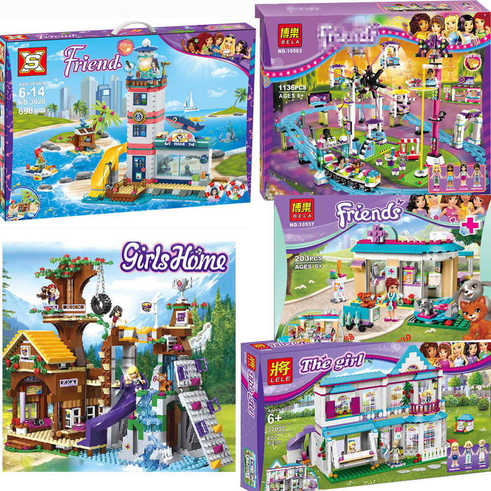 Compatible With Legoinglys Friends For Girls Series Set Emma Stephanie Mia Olivia Andrea Building Blocks Gifts Toys For Children