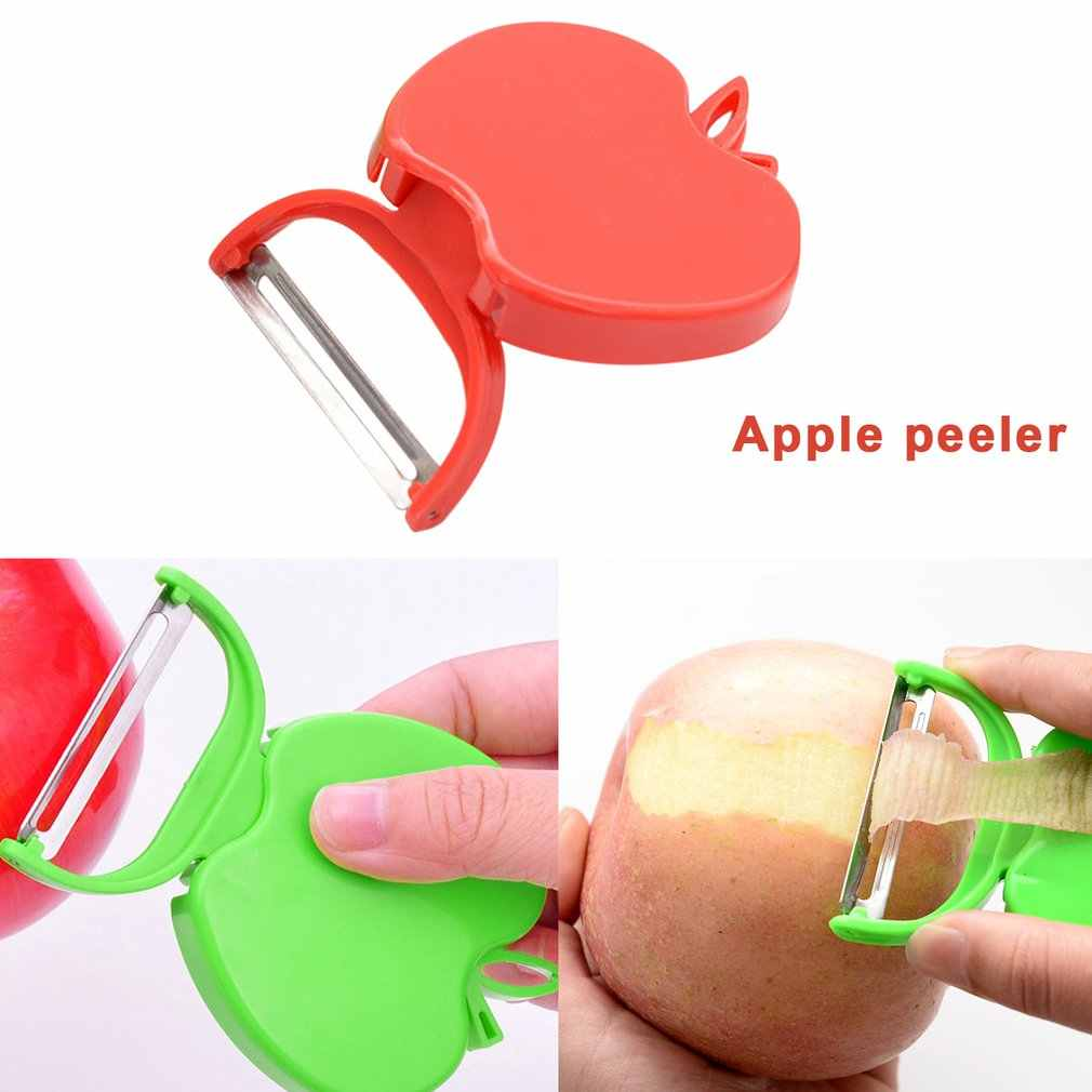 Składany obieraczka do owoców jabłko kształt warzyw Zester ostrza ze stali nierdzewnej krajalnica krajalnica nóż kuchenny gadżety biurowe Drop Ship