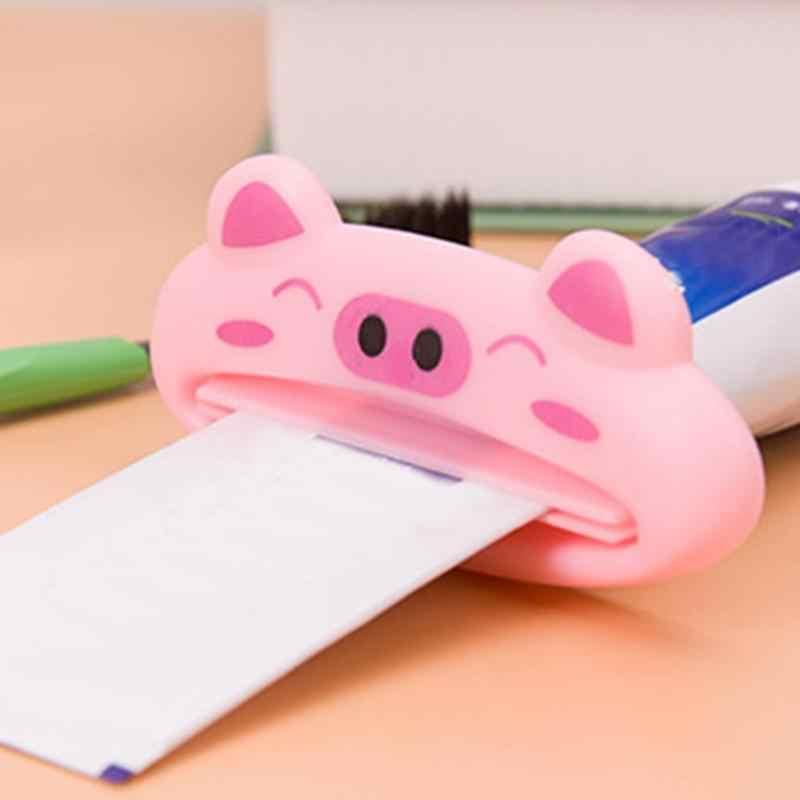1 sztuk zwierząt do wyciskania pasty do zębów dozownik z tworzywa sztucznego pasty do zębów rury pasta do zębów Rolling uchwyt na szczoteczkę do zębów dekoracji domu łazienka