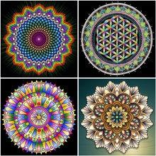 Diamond painting mandala full square round geometric pictures