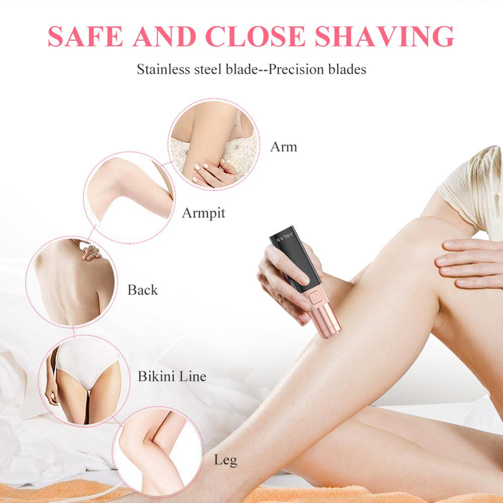 Image 3 - ANLAN Promotion Female Mini Electric Epilator Women Body Face Lipstick Shape Shaving Shaver Lady Hair Remover IPX6 Waterproof-in Epilators from Home Appliances