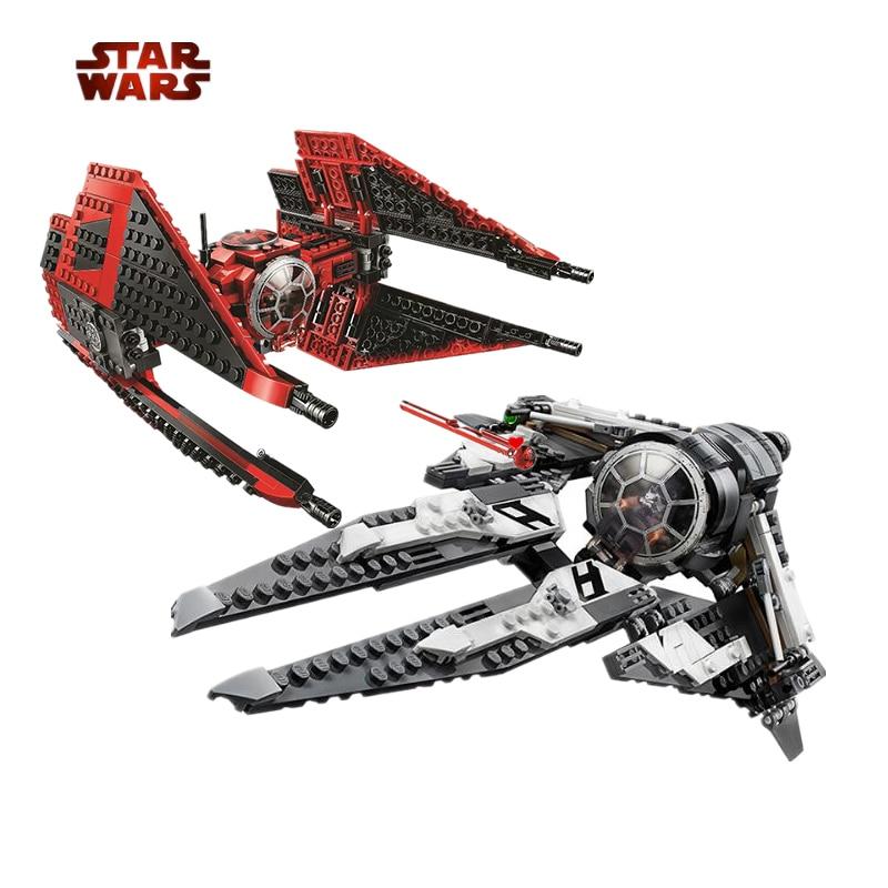 2020 NEW Legoinglys Star Wars Red Tie Fighter TIE Interceptor 75240 75241 AT-TE Walker Building Blocks Brick Toys For Children