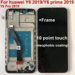 "Image 3 - 6.09 ""AAA Original Für Huawei Y6 Prime 2019 Y6 Pro 2019 Y6 2019 MRD LX1f LCD Display Touchscreen Digitizer montage Replac + Rahmen"