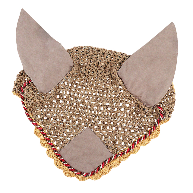Pets Alpha Equestrian Fly Veil Ear Bonnet  - Durability With Style 3