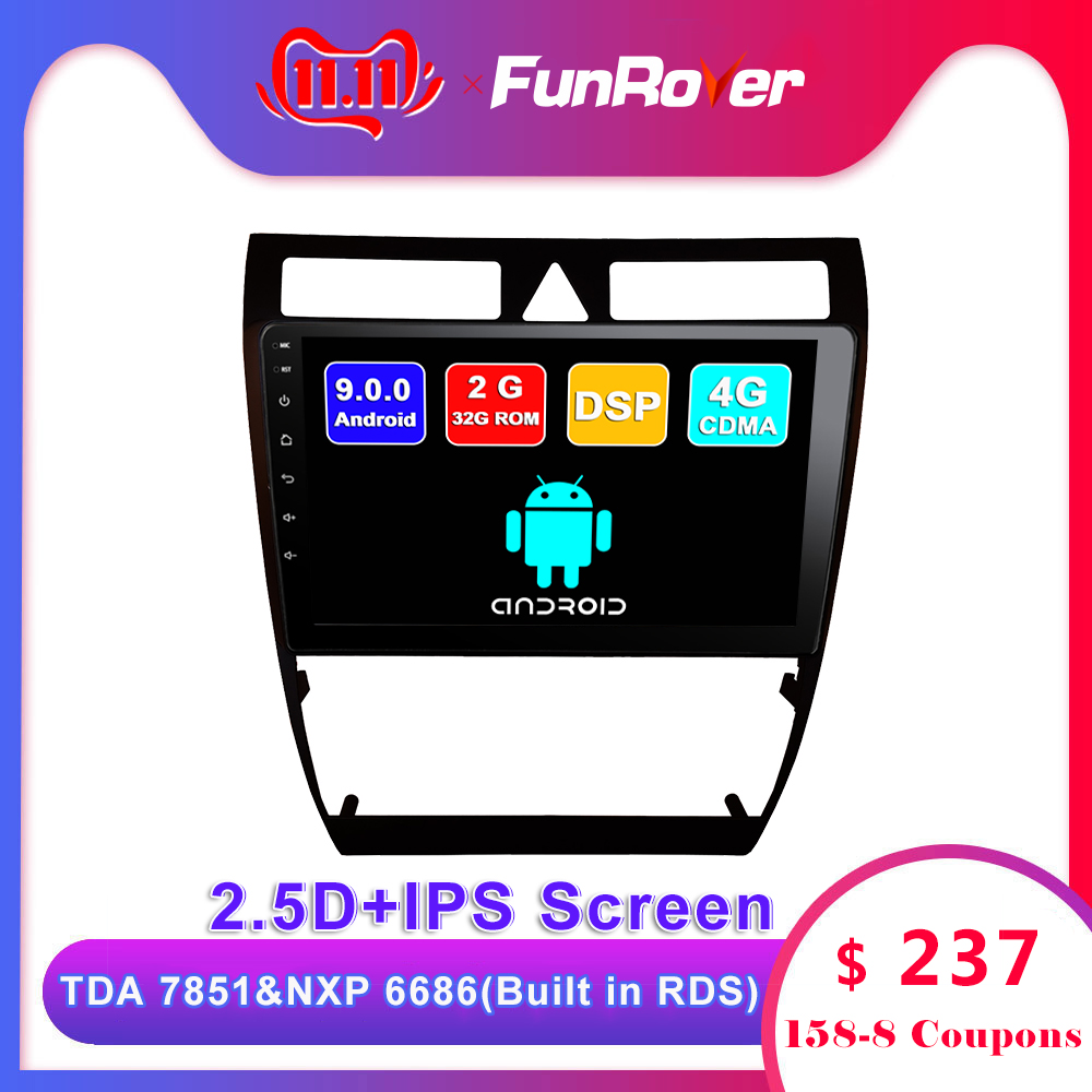 Funrover <font><b>Android</b></font> 9.0 2.5D+IPS car dvd player For <font><b>Audi</b></font> <font><b>A6</b></font> S6 RS6 Allroad radio gps navigation navi multimedia stereo accessories image