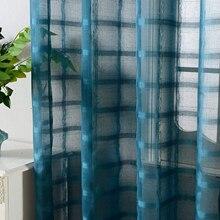 Sheer Curtains Window-Treatment Tulle Bedroom Kitchen-Door Living-Room Voile Plain Topfinel