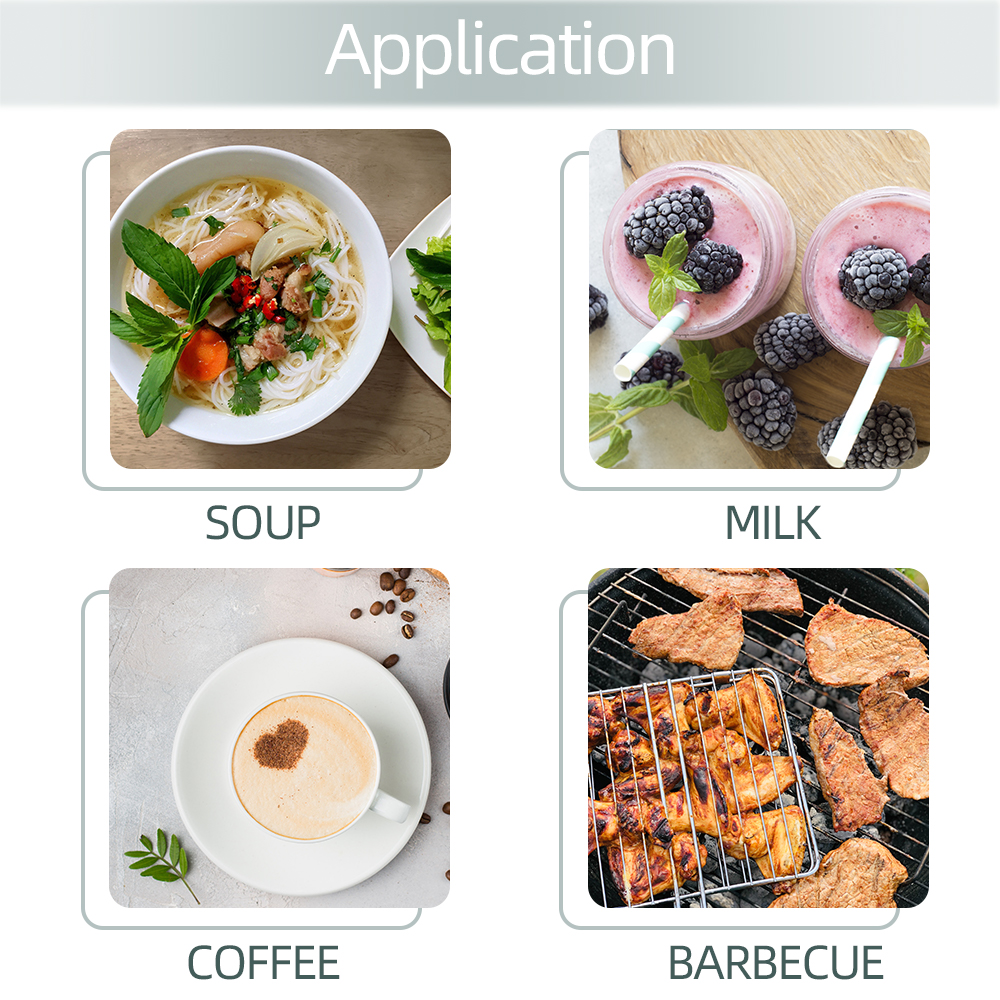 JUANJUAN TP300 Food Thermometer Made of Metal for Soup Milk Coffee and Barbecue with 300 Degree Celsius Temperature Range