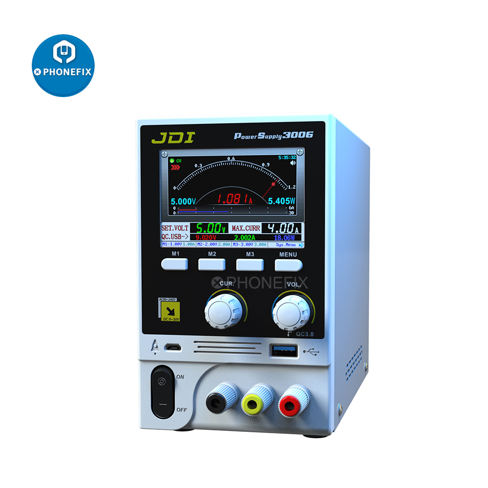 JDI HR3006 30V 6A Intelligent Voltage Regulator Current Oscilloscope Meter Fast Charger 3 0 Output Power Supply for Phone Repair