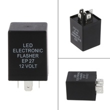 5 Pin EP27 LED Electronic Flasher Relay Turn Signal Indicator Blinker Flash Automobiles Switches & Relays