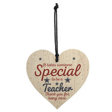 Wooden Handmade Hanging Pendant Heart Teacher Leaving Present Thank You Gifts Nordic Style Room Decoration Wall Ornament(China)