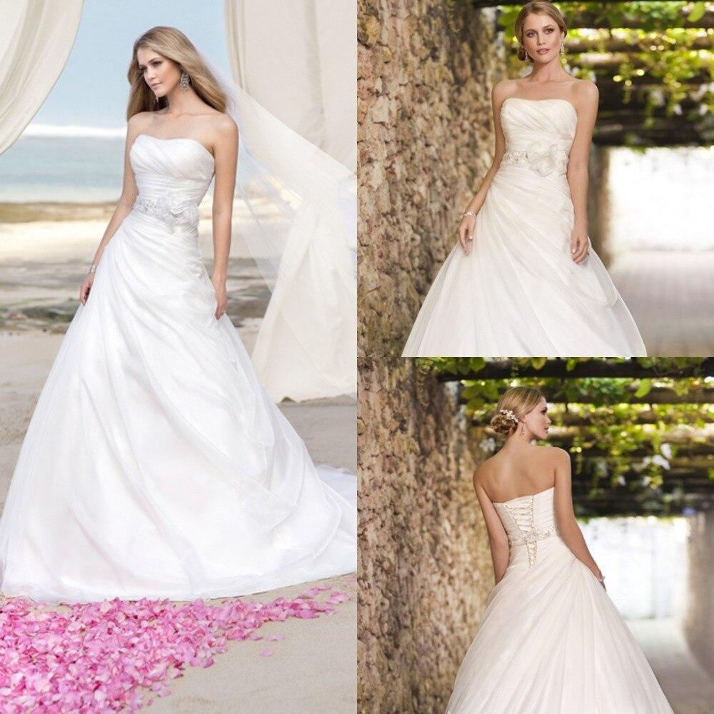 White Organza Custom Wedding Dresses With Sashes A Line Off The Shoulder Vestidos De Novia Floor Length Dress To Party Girls