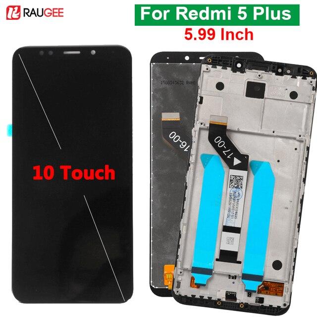"""ل شاومي Redmi 5 Plus شاشة LCD تعمل باللمس 100% جديد FHD 5.99 """"محول الأرقام الجمعية استبدال ملحق ل Redmi5 زائد"""