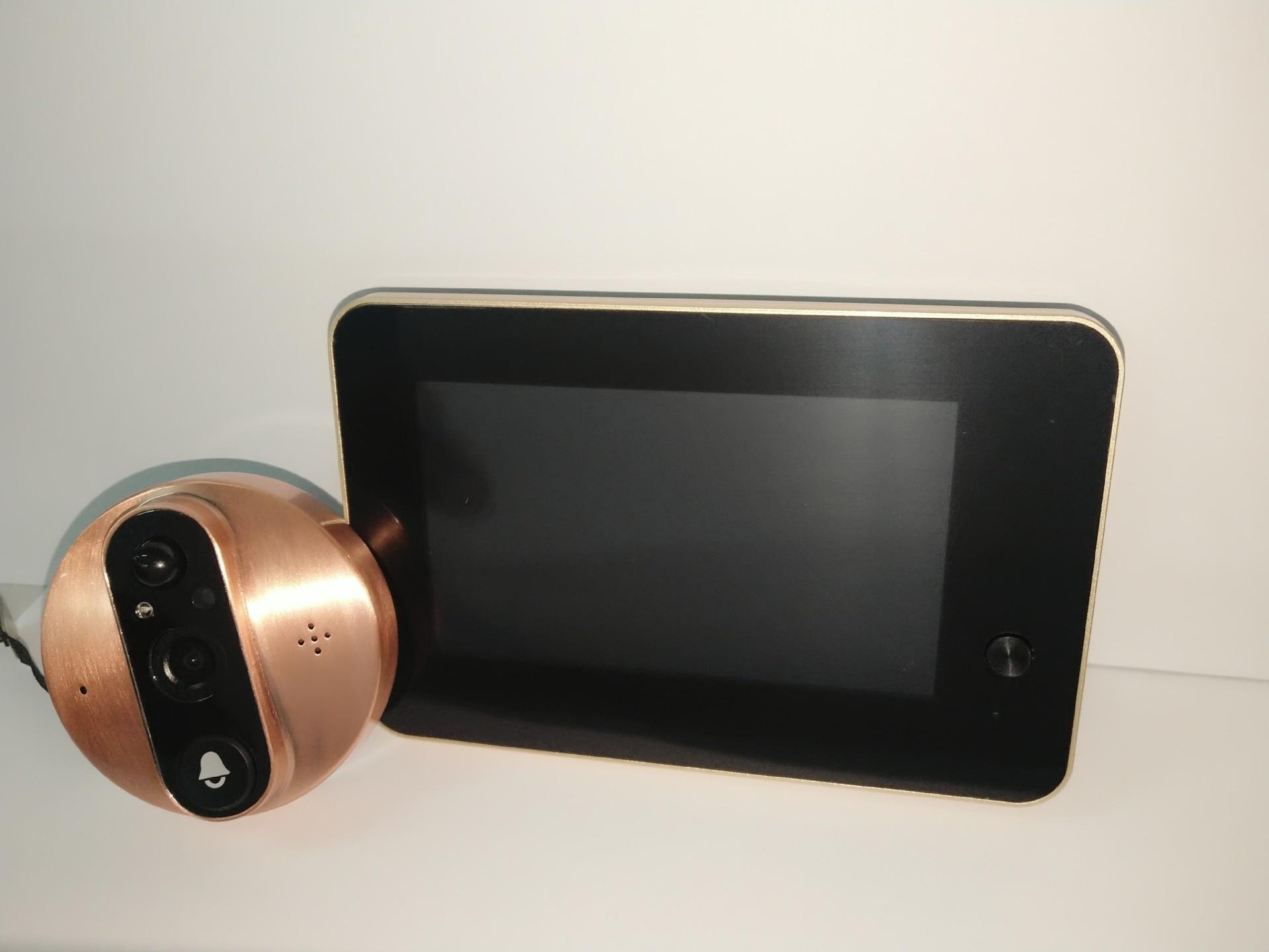 Купить с кэшбэком Wireless Intercom DoorBell Phone App Remote Peephole Infrared Night Security Camera HD Viewer Doorbell Apartment Door Security
