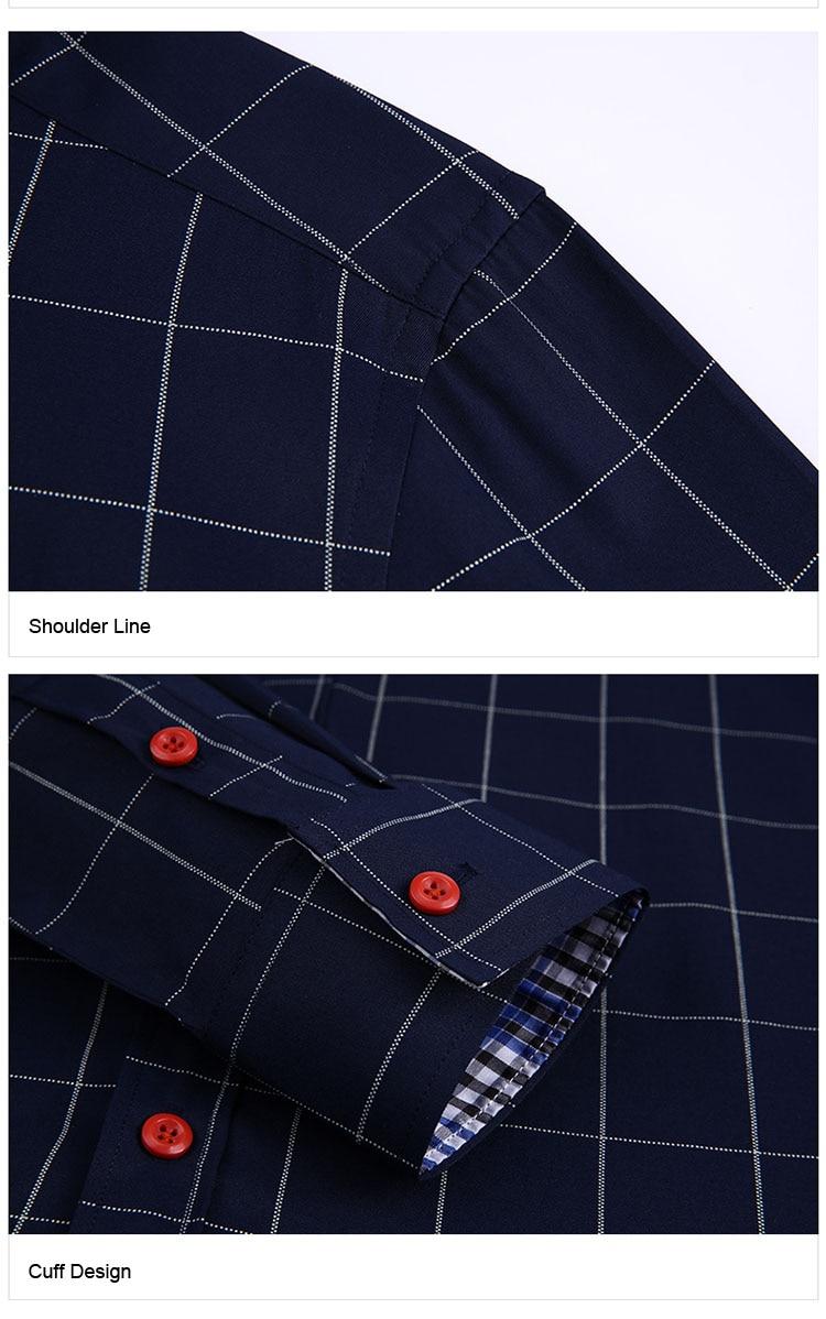 H7c2c37bd94134fd291d8db0ae47a21aaz Handsome Fashion Men Shirts Casual Long Sleeved Plaid Shirt Regular Fit Male Blouse 4XL 5XL